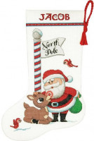 Chaussette de Noël : Rudolph