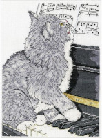 Chat au piano