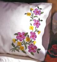 taie d'oreiller fleurs parfumées