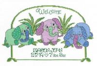 Tableau de naissance bébé éléphant