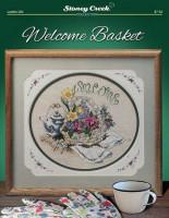 Bienvenue panier de fleurs