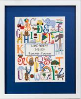 Brillant alphabet de naissance