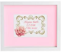 Tableau de naissance rose