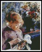 Femme brodant (Renoir)