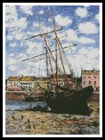 Bateau à marée basse, Fécamp (Monet)