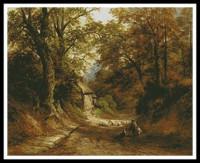 Le vieux cottage derrière la colline (Turner)