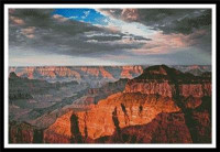 Coucher de soleil sur le grand Canyon (Arizona)