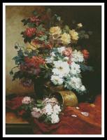 Roses et dahlias