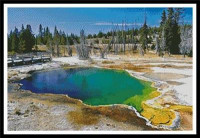 Hot springs dans le parc national de Yellowstone (Wyoming)