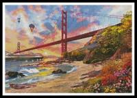 Coucher de soleil sur le Golden Gate (San Francisco)