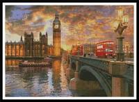 Coucher de soleil sur Westminster (Londres)