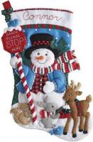 Chaussette de Noël : arrête toi ici, Père Noël