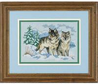 Paire de loups