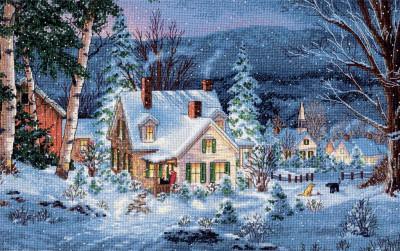 Cottage enneigé