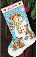 Chaussette de Noël : amis de l'hiver