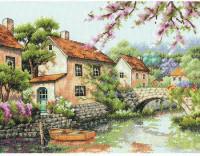 La rivière dans le village