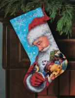 Chaussette de Noël : Père Noël et jouets