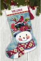 Chaussette de Noël : bonhomme de neige en saison