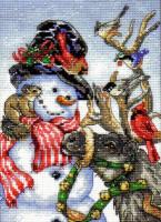 Bonhomme de neige et renne