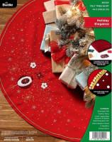 Tapis de sapin élégance de Noël