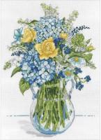 Bouquet jaune et bleu