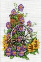 Souris et roue de charrette