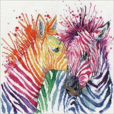Zèbres multicolores