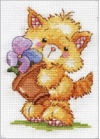 Broderie de chat