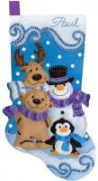 Chaussette de Noël : les amis de l'hiver