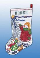 Chaussette de Noël : les bonhommes de neige au travail