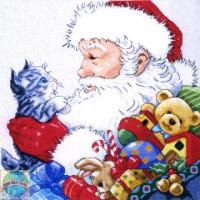 Père Noël et chaton