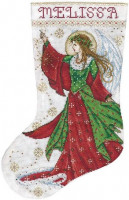 Chaussette de Noël : ange de joie