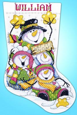 Chaussette de Noël : La neige peut tomber