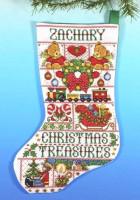 Chaussette de Noël : trésors de Noël
