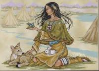 Jeune fille indigène d'Amérique