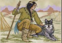 Courageux indigène d'Amérique