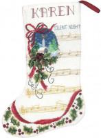 Chaussette de Noël : nuit silencieuse