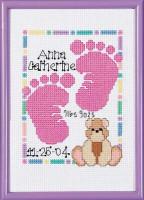 Tableau de naissance : empreintes de bébé