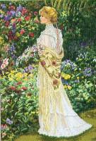 Dans son jardin