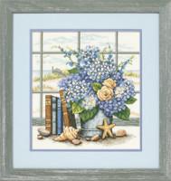 Hortensias et coquillages