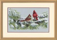 Les cardinaux en hiver