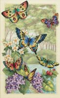 Forêt de papillons