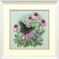 Papillon et marguerites
