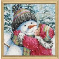 Un bisou pour le bonhomme de neige