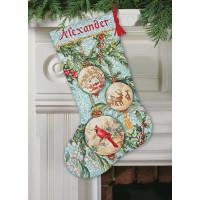 Chaussette de Noël : ornements de la collection or