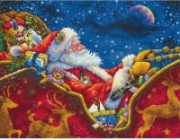 Promenade du Père Noël à minuit
