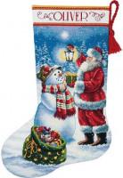 Chaussette de Noël : lumière de Noël