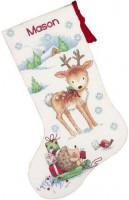 Chaussette de Noël : des présents pour un faon