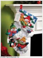 Chaussette de Noël : la neige pour s'amuser