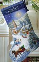 Chaussette de Noël : promenade en traîneau au crépuscule